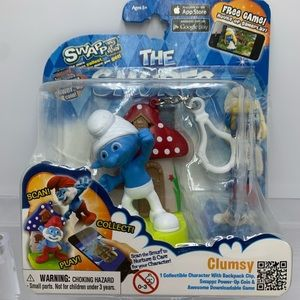 The Smurfs Clumsy, Power-Up Coin and Game, New!